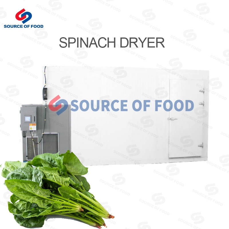 The spinach dryer belongs to the air heat pump dryer