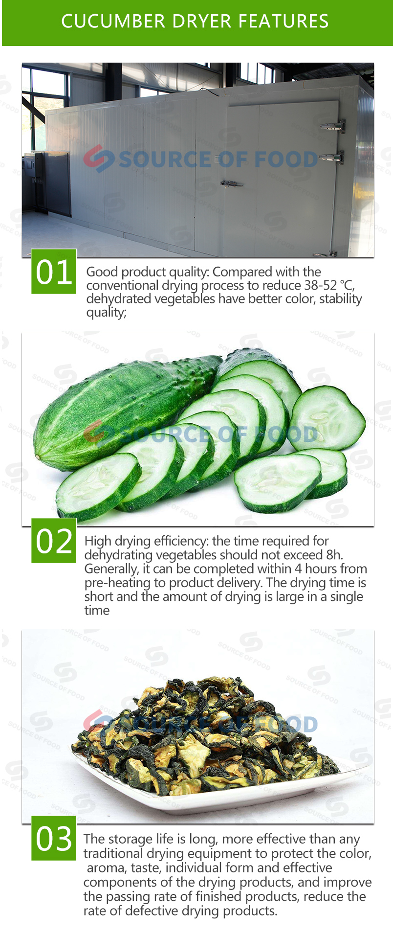 our cucumber dryer price is reasonable