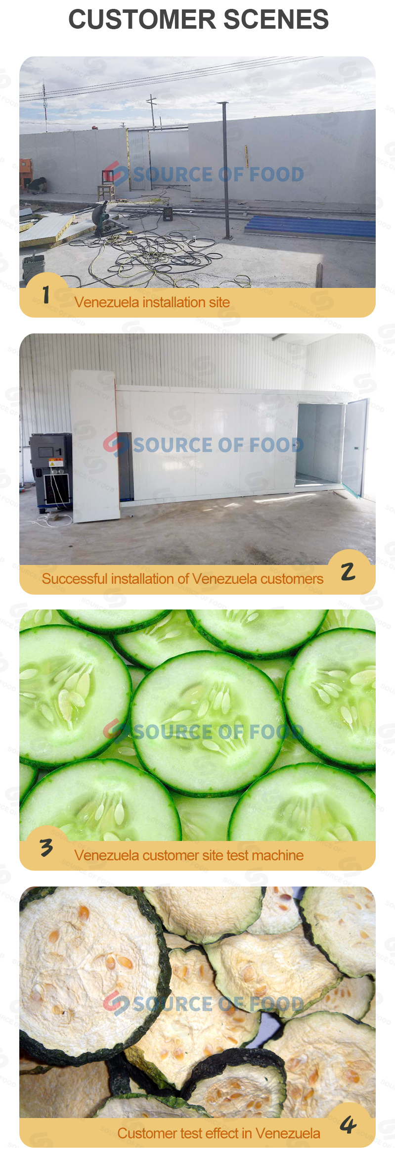 the cucumber dryer for sale to Venezuela are popular with customers.