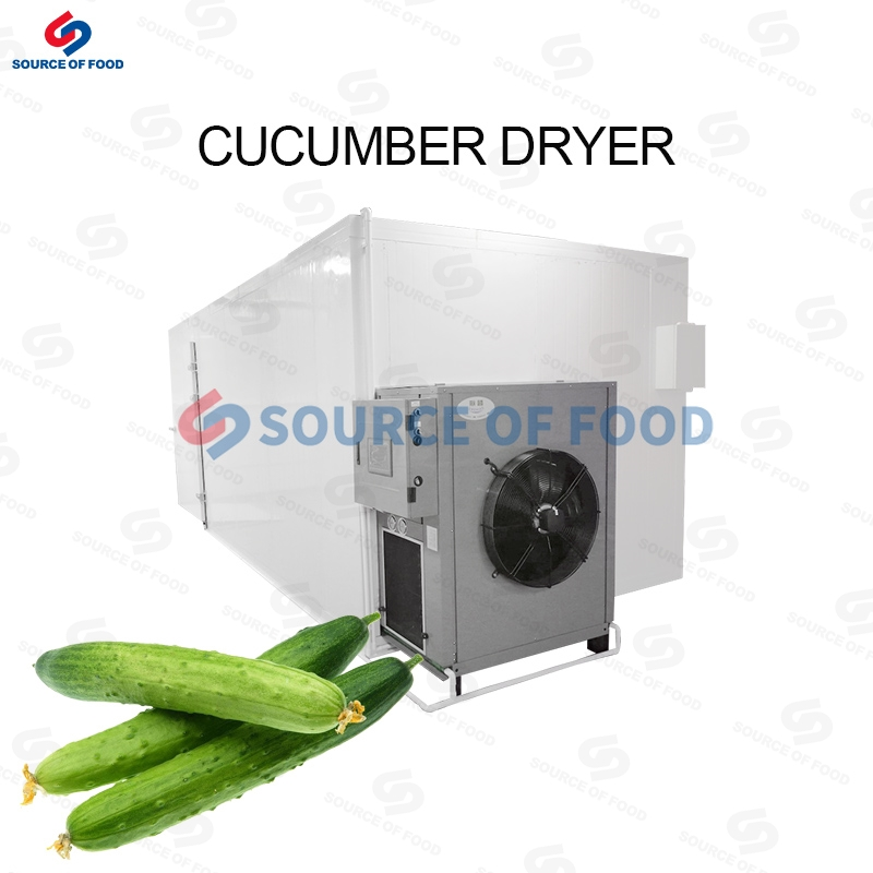Our cucumber dryer are air-powered heat pump dryers