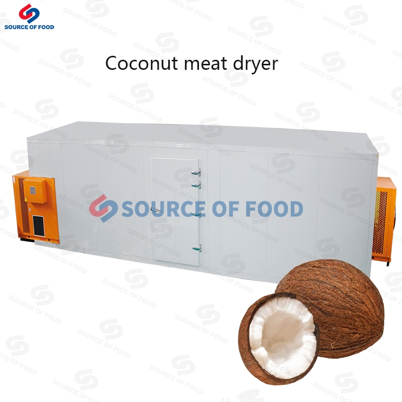 Our coconut meat dryer can ensure the nutrition after drying will not be lost