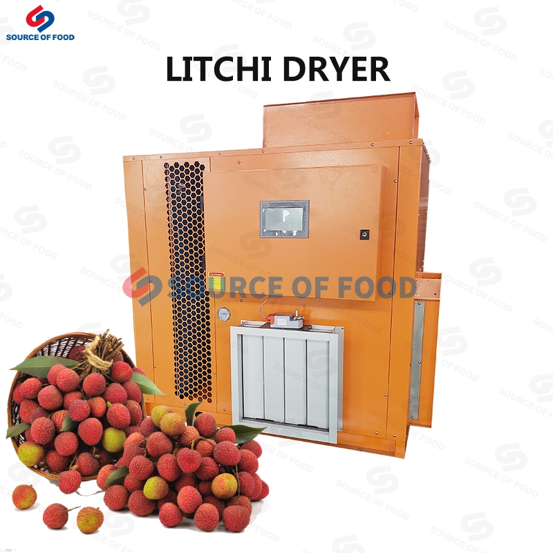 Litchi can also be dried by litchi dryer to make dried fruit preserves