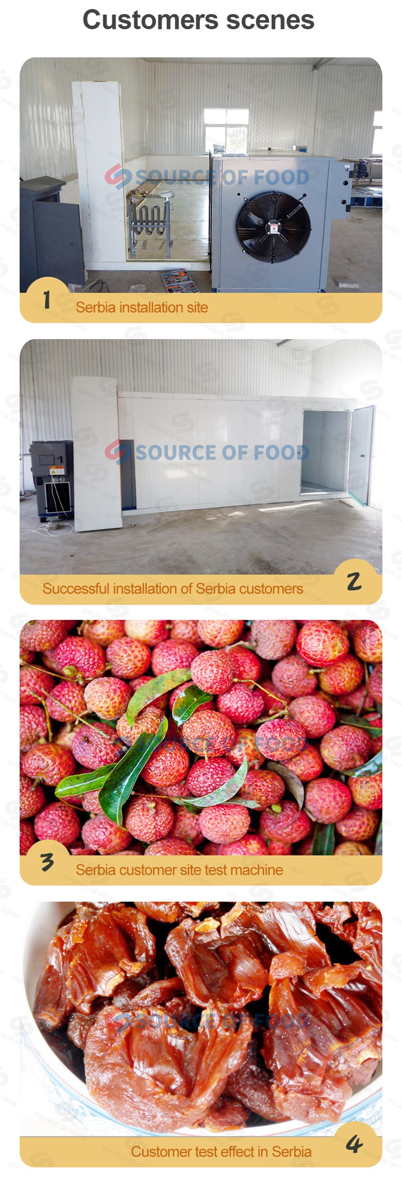 and litchi drying equipment is widely sold overseas.