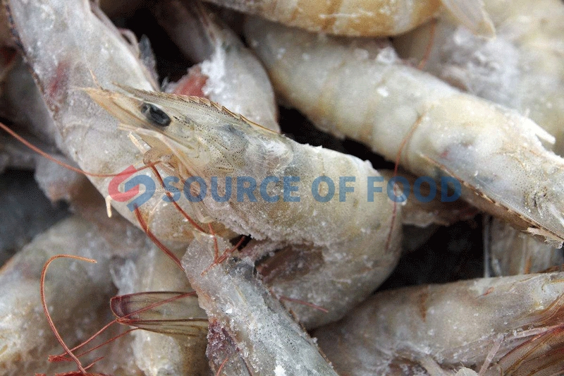 Our cold storage for shrimp temperature can be adjusted to minus 5 degrees to minus 25 degrees.