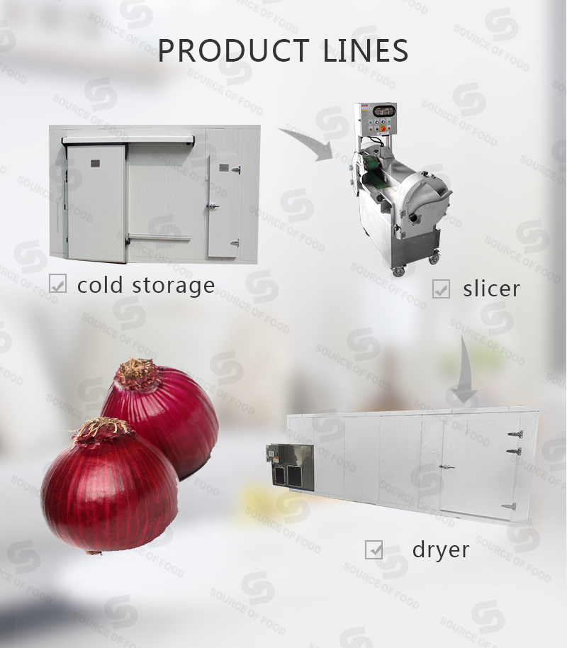 there are onion cold storage,onion slicer and onion dryer