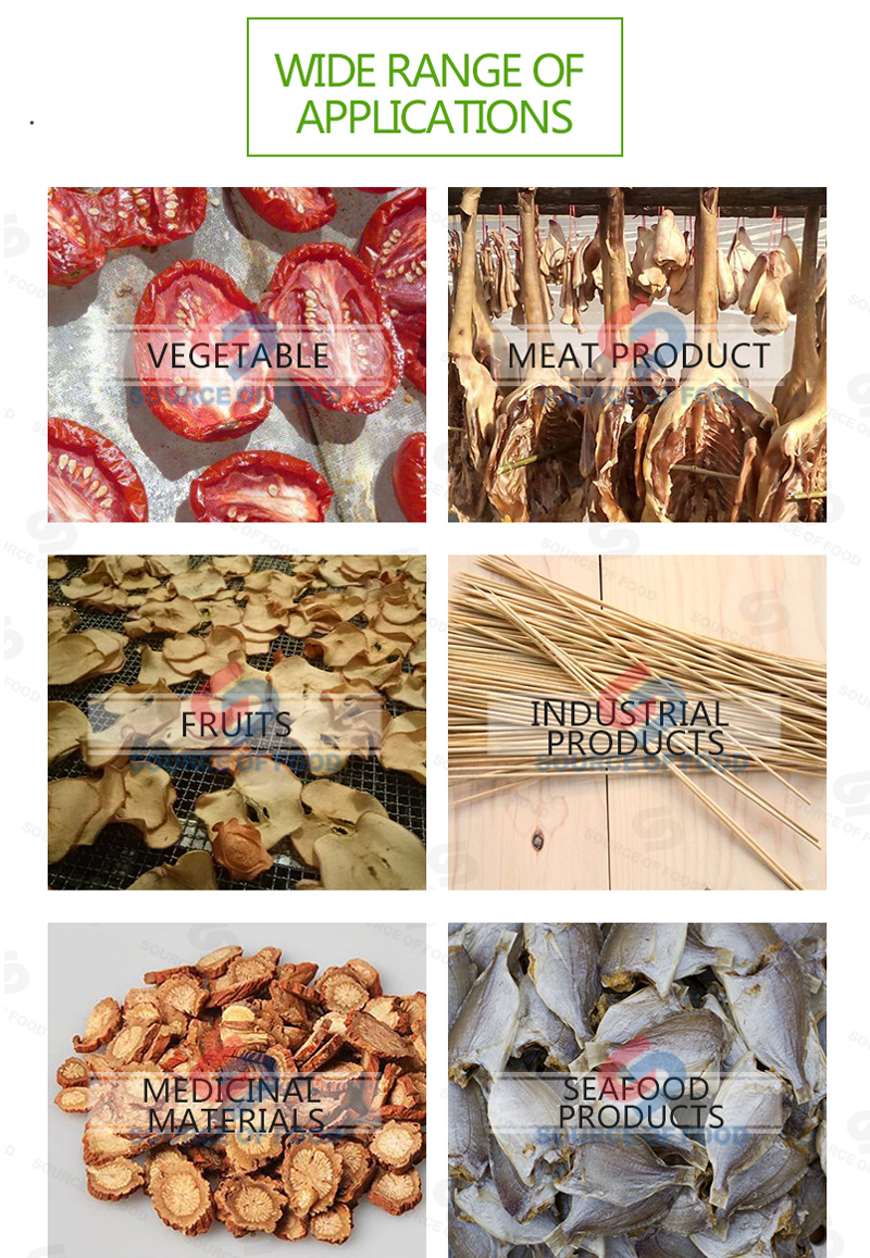 duck meat dryer machine can well preserve the original nutritional ingredients and edible value.